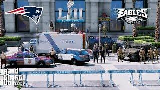 GTA 5 LSPDFR Protecting Superbowl 52 - FBI, Minneapolis PD, Minnesota State Patrol & National Guard