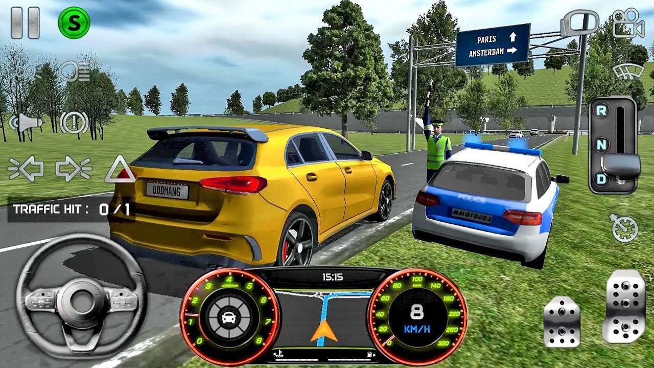 Real Driving Games >> Real Driving Sim 1 First Mission Car Games Android Gameplay