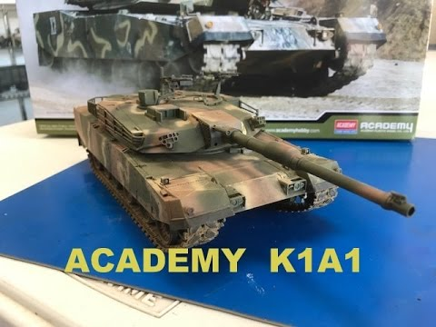 Building the 1/35 Academy models K1A1 South Korean main battle tank