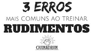 Baixar Os 3 ERROS mais comuns ao treinar Rudimentos! - Aula AO VIVO nessa 5º feira!
