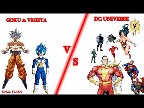 Download Goku And Vegeta Vs Dc Universe | How Many Characters They Can Beat In Dc |Explained In Hindi|