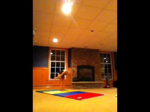 Emily And I Doing Some Gymnastics Skills In Our Basement
