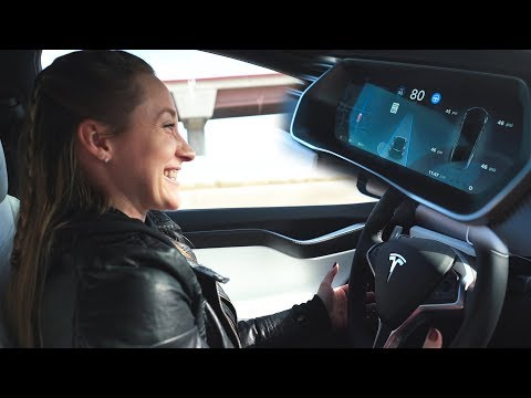 Using Autopilot in Tesla Model X!