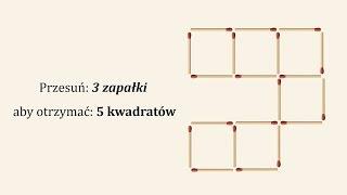 Trzy zagadki z zapałkami