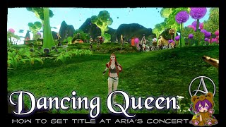 ArcheAge - Dancing Queen title + Musical Note icon at Aria's Concert