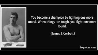 James J Corbett - The Gentleman Prizefighter.