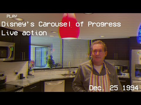 The Theme Park Podcast - Family Reenacts Carousel Of Progress For Live Action Christmas Card