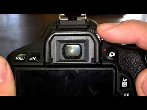 How To Focus Viewfinder on DSLR