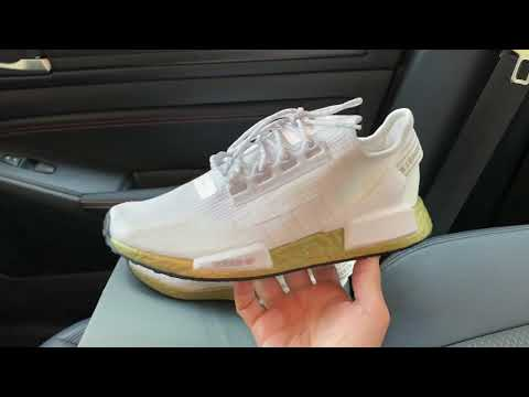 Adidas Nmd R1 V2 Cloud White Gold Metallic Boost Shoes Youtube