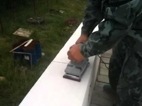 Моя стройка,домик 6х6 из газобетона часть 5 ,шлефмашинка