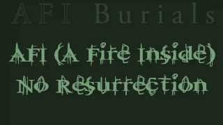 AFI - No Resurrection (Lyric Video)