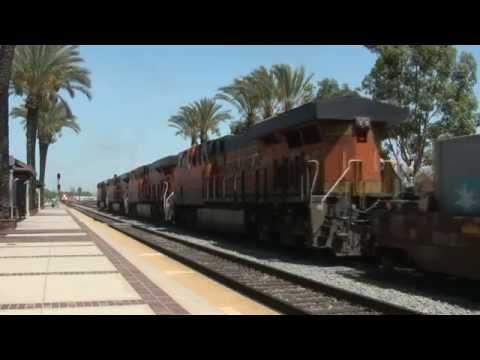 A day at Fullerton, California.  Railfanning Orange County.