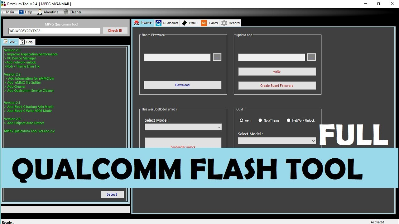 Qualcomm Flasher Tool V2 4 Full Version For free + how to use and  installation GUIDE