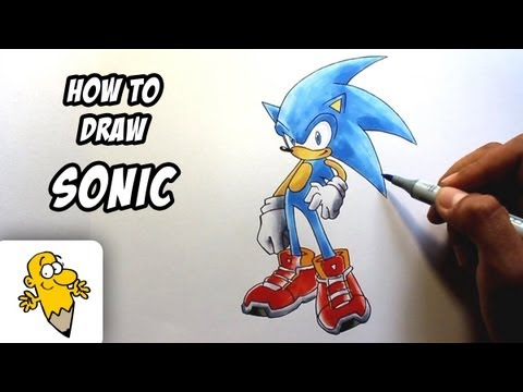 How To Draw Sonic The Hedgehog Drawing Tutorial