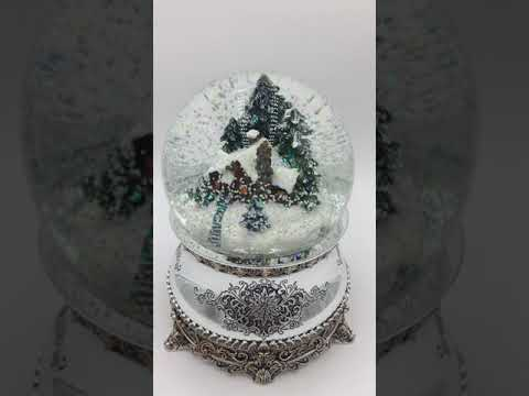 "Musical Snow Globe - House in the Woods with Melody ""Winter Wonderland"" (58002)"