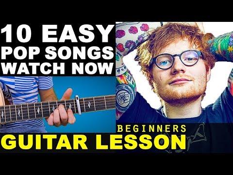 Learn | TOP 10 | EASY | Pop Songs (2016) Beginners Guitar Lesson