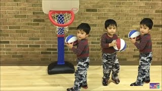KIDS Basketball   SO COOL KIDS BASKETBALL CHALLENGE   Basketball for Beginners