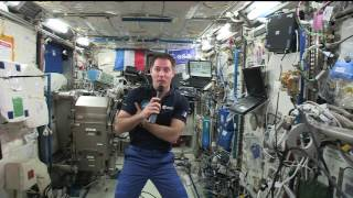Space Station Crew Member Discusses Life in Space with French Officials, Students