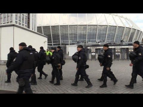 Ukraine : sécurité renforcée autour du stade avant le débat | AFP Images