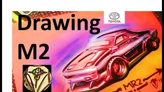 How to draw a Toyota MR2