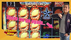 We go DOWN again on Rockin Fruits Slots! [Day 17 - Slots Challenge 3]