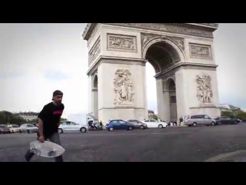 Razor RipSurf - сёрфинг на двухколёсном скейте по улицам Парижа (рипстик, роллерсёрф)