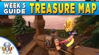 Fortnite - Snobby Shores Treasure Map Location - Week 5 Challenge
