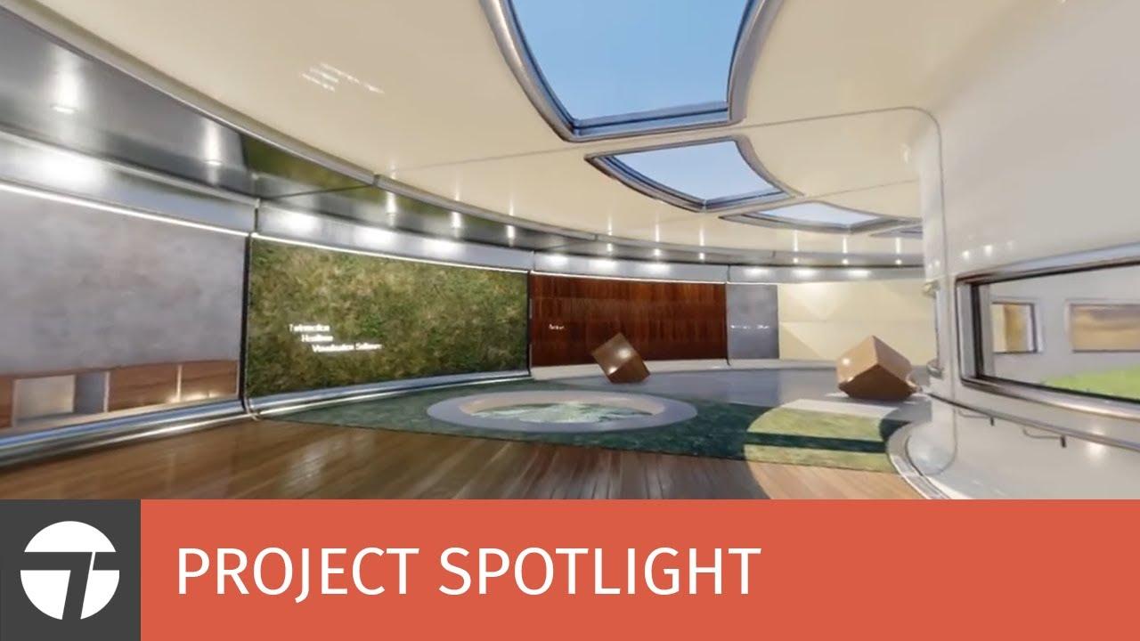 Twinmotion 2018 360 video export - Material & Light salon