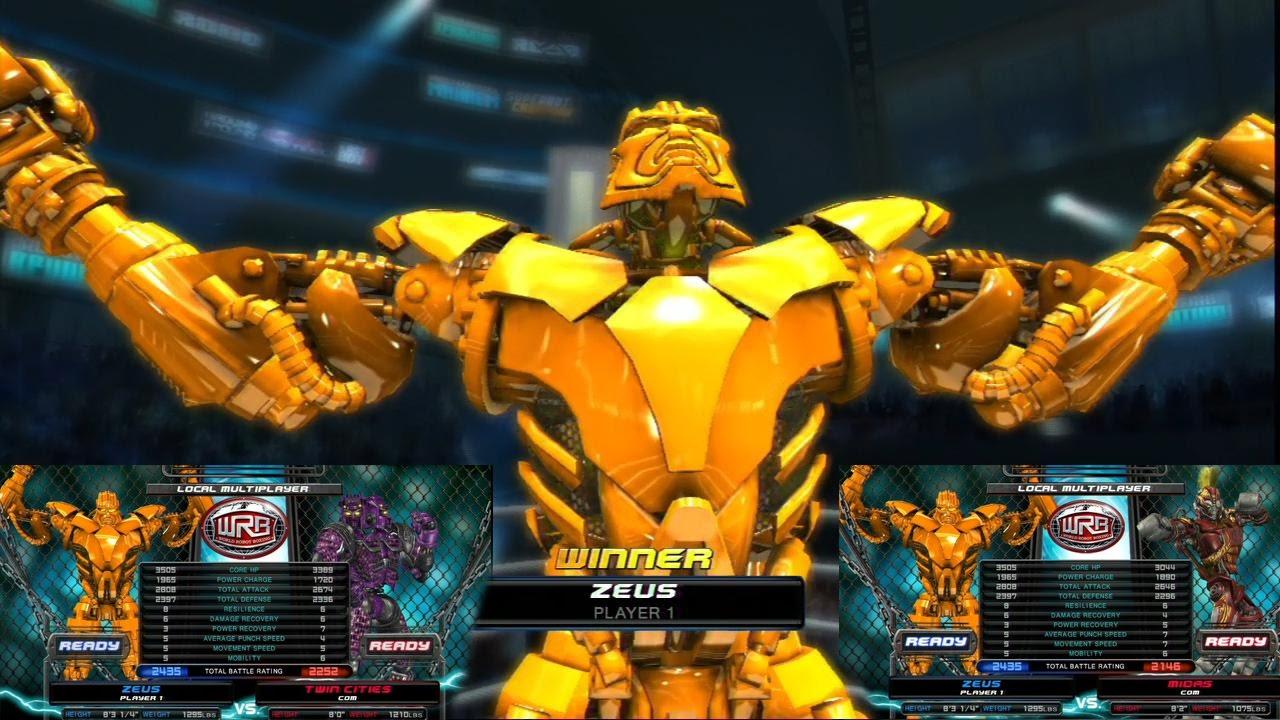 real steel world robot boxing-golden zeus vs new twin cities & red
