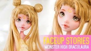 Repainting Monster High Draculaura special Sailor Moon tribute - Faceup Stories 33