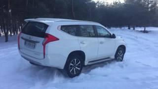 Тест Mitsubishi Pajero Sport на снегу
