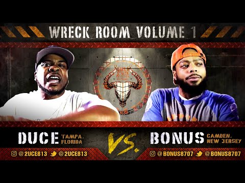 #WreckRoomVol1: DUCE vs BONUS rap battle hosted by John John Da Don | BULLPEN BATTLE LEAGUE