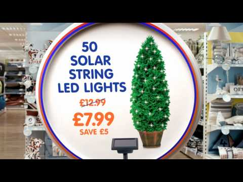 The Range Summer 2012 TV advert - Products We Do Sell, 50 Solar String LED Lights