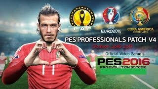Professionals Patch v4.0 | AIO | Pes2016 Pc , Download