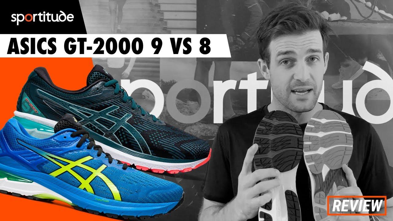 Asics GT-2000 9 vs 8 Comparison Shoe