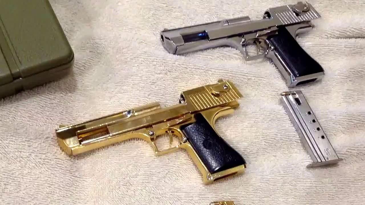 Miniature Guns Desert Eagle 12 Silver Gold
