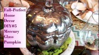 Fall-Perfect Home Decor DIY #5 Mercury Glass Pumpkin