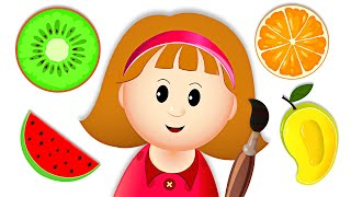 Learning Colors & Fruit Names for Children | Fun Educational Video | Kidscamp