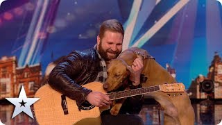 Meet Aaron and Buddy: the amazing SINGING DOG! | Auditions | BGT: Unseen