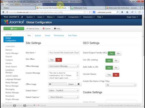 Joomla 3.x : Lesson 5: Using Gmail Smtp Email