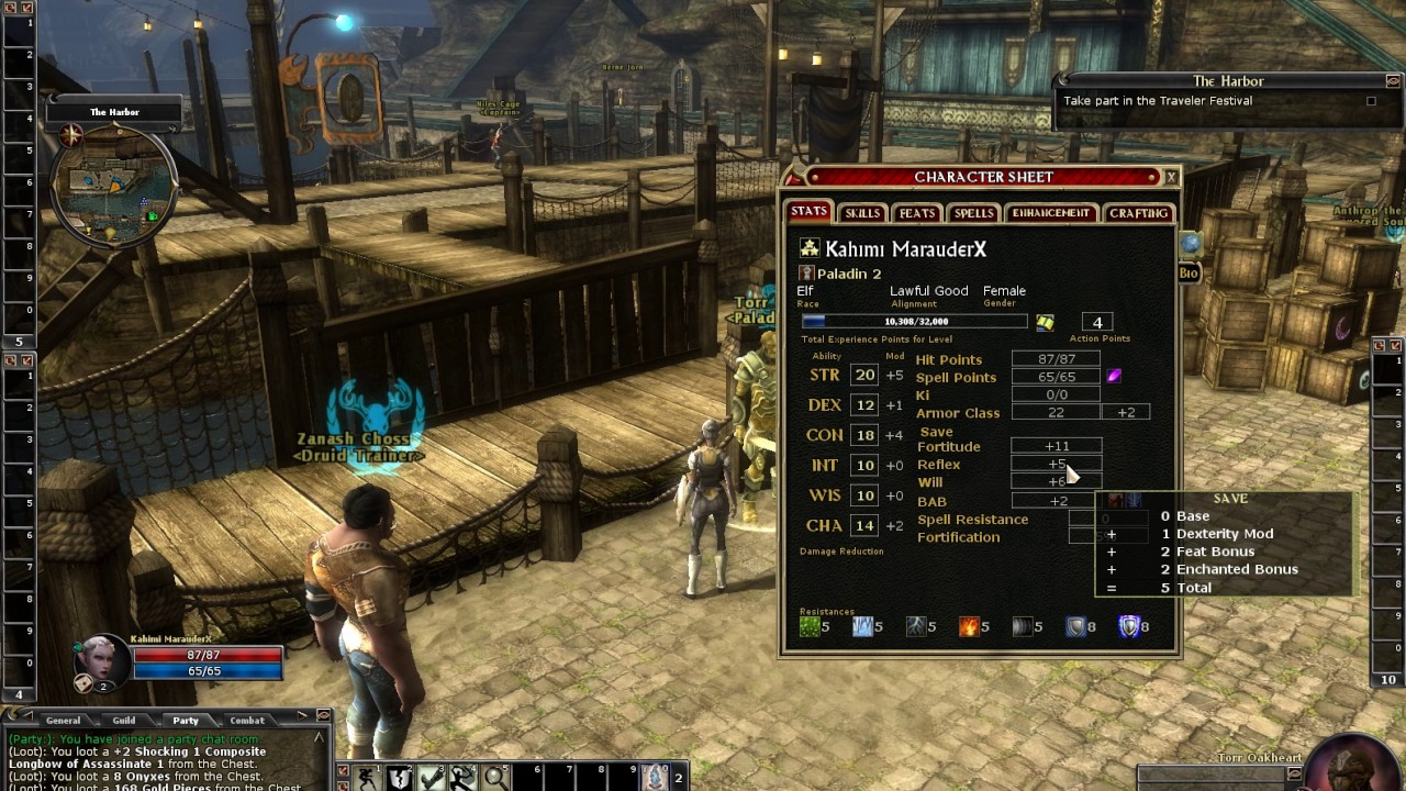 DDO 172 - Paladin elf level 1 to 2