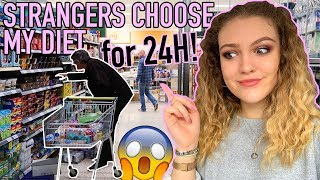 I LET COMPLETE STRANGERS DECIDE WHAT I ATE FOR 24H...😱