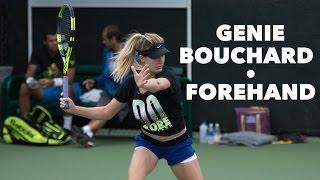 GENIE BOUCHARD • FOREHAND & SLOW MOTION • MIAMI OPEN 2016
