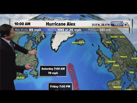 Hurricane Alex forms in the Atlantic