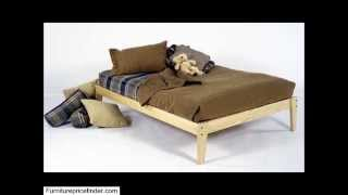Queen Size � Solid Wood Platform Bed Frame � Clean, Unfinished, Chemical Free Pine � Made In Usa