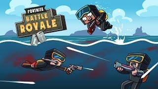 Minecraft Fortnite - UNDERWATER SWIMMING SHOOTOUT! (Fortnite Battle Royale)