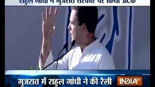 Rahul Gandhi Attacks PM Modi in his Rally at Mehsana, Gujarat