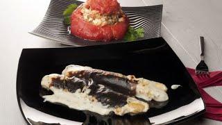 Receta de Espárragos gratinados y tomate relleno - Cocina con Bruno Oteiza