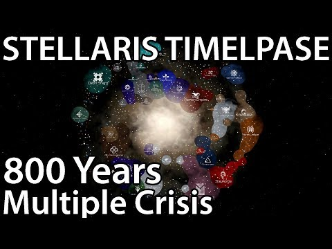 Stellaris Timelapse - Multiple Crisis (800 Years)