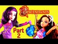 Disney Descendants Spell! with Frozen Elsa Anna Mal Evie Audrey Ben Carlos Maleficent Dolls PART 2